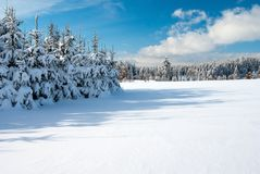 Wintry landscape scenery Royalty Free Stock Photo