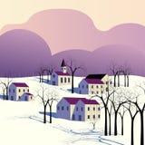 Winter morning landscape Stock Photos