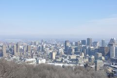 Wintry Montreal Skyline Stock Photography