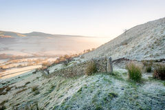 Wintry Morning on Cracken Edge in The Peak District Stock Photography