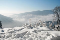 Wintry mountains landscape Stock Photography