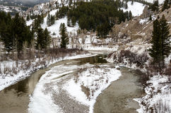 Wintry River Royalty Free Stock Photography