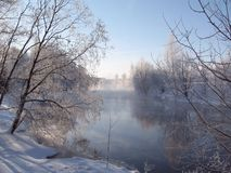 Wintry river Stock Photography