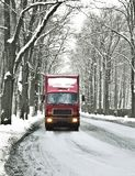 Wintry road Royalty Free Stock Images