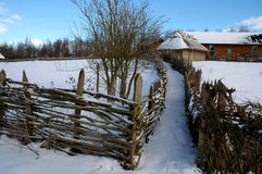 Wintry rural landscape Stock Photography