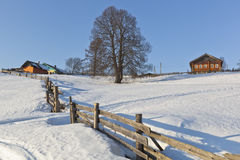 Wintry rural landscape Royalty Free Stock Images