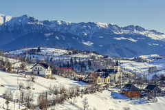 Wintry rural mountain scenery Royalty Free Stock Photo