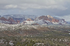 Wintry Sedona Landscape Royalty Free Stock Photo