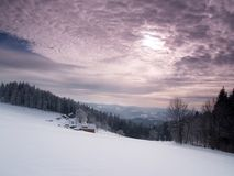 wintry sky Royaltyfri Bild