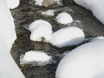 Wintry stream. Stock Photos