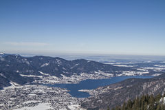 Wintry Tegernsee view Stock Images