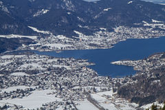 Wintry Tegernsee view Stock Photography