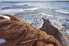Dead Horse Point Ledge & Pyramid Butte Royalty Free Stock Photos