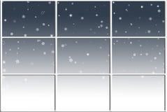 Wintry Window. Winter scene illustration outside a window Stock Photography
