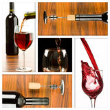 Winw collage. Collage of wine drink related pictures made from five images Stock Photo