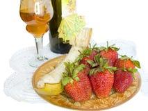 Winy Nachtisch auf einer Serviette Lizenzfreie Stockbilder