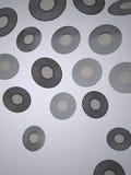 Winylowi rejestry - Muzyczny tło Zdjęcia Royalty Free