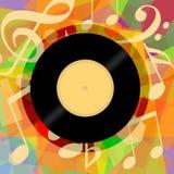 Winylowy Muzyczny tło Obraz Royalty Free