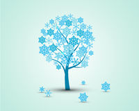 Winzter tree Royaltyfri Illustrationer