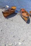 Wioślarskie łodzie cumowali przy Boweness na Windermere, Jeziorny Windermere Obraz Royalty Free