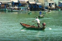 Wioślarskie łodzie w Mekong delcie Obraz Royalty Free