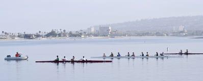 Wioślarskiego klubu praktyki, misi zatoka, San Diego Obraz Royalty Free