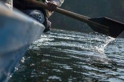 Wioślarstwo łódź Obrazy Royalty Free