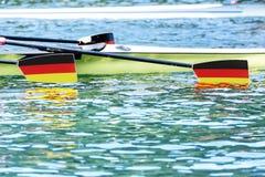 Wioślarski regatta paddles niemieckiego sztandar Obrazy Stock
