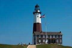 wiodącego latarni morskiej montauk muzealny punktu popularny widzieć widok spacer Obraz Royalty Free
