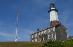 wiodącego latarni morskiej montauk muzealny punktu popularny widzieć widok spacer Obrazy Stock