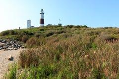 wiodącego latarni morskiej montauk muzealny punktu popularny widzieć widok spacer Fotografia Stock