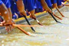 Wioślarska łódkowata drużyna Obrazy Royalty Free