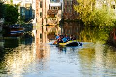 Wiosłować łódź w Gent Zdjęcia Stock