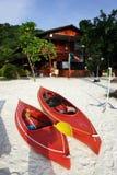 wiosłować łodzi Zdjęcia Royalty Free