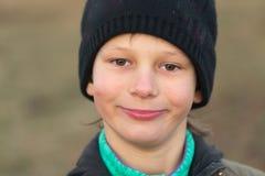 Wiosek dzieci Emocjonalny zakończenie portret w naturze Obrazy Royalty Free