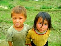 Wiosek dzieci Sapa Wietnam Fotografia Royalty Free