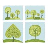 Wiosen drzewa Ustawiający Obraz Stock