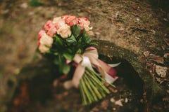Wiosen róż ślubny bukiet Obraz Stock