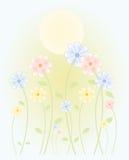 wiosenne słońce ilustracji