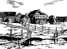 Wioska ilustracji