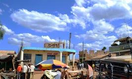 Wioska Amboseli, Kenja, Afryka Zdjęcie Royalty Free