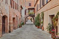 Wioska Buonconvento w Siena, Tuscany, Włochy obrazy stock