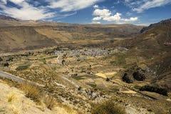 Wioska Chivay, Colca dolina, Arequipa, Peru Obrazy Stock