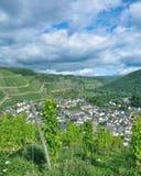Wioska Dernau, Ahr dolina, Palatinate, Niemcy Zdjęcie Stock