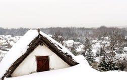 Wioska dom przy Jeziornym Balaton, Węgry Obraz Stock