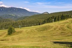 Wioska Donovaly Sistani Tatras LATO krajobraz obrazy stock