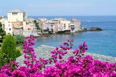 Wioska Erbalunga na Corsica wyspie obrazy stock