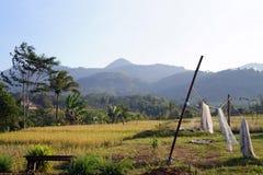 Wioska i góra Zdjęcia Stock