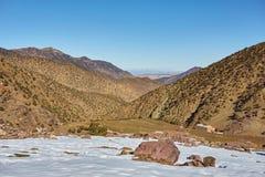 Wioska Imlil, Wysokie atlant góry, Toubkal park narodowy zdjęcie stock