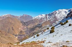 Wioska Imlil, Wysokie atlant góry, Toubkal park narodowy obrazy royalty free